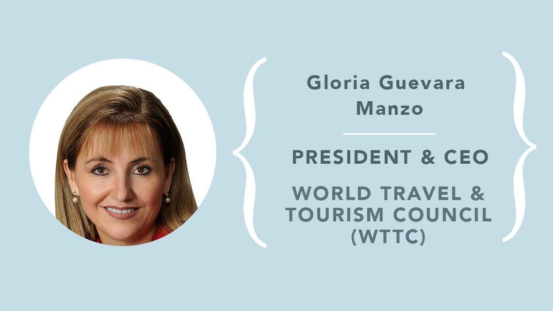 Resultado de imagen para La CEO de WTTC, Gloria Guevara