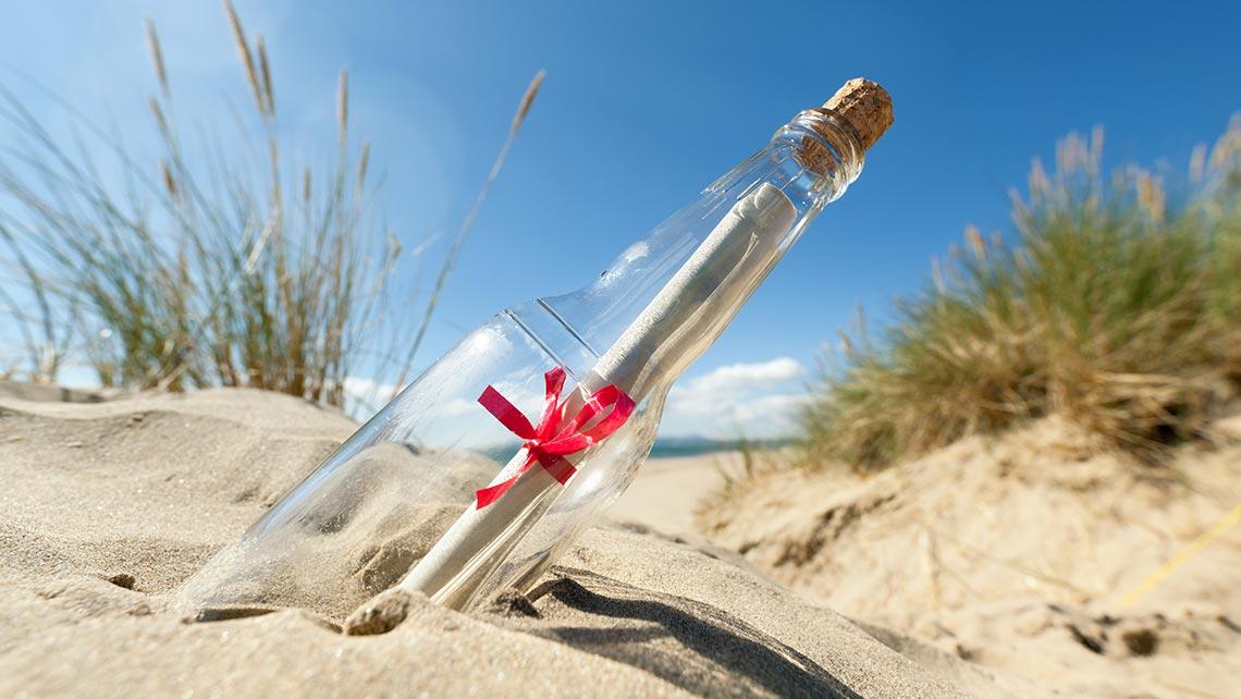 Message in a bottle travels 6,200 kilometres to Australia