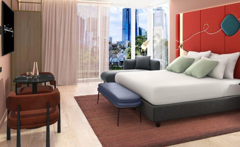 Quincy Hotel Melbourne's Hosier Club Room.